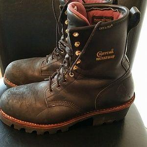 Chippewa Other - Men's Chippewa Black Leather Waterproof Boots