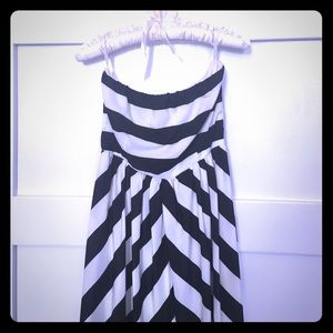 Lulu's Brand black and white striped Maxi dress
