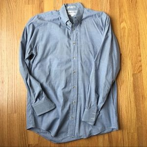 Men's Burberry Plaid Button Up Shirt Medium