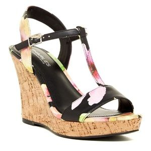 Charles David Floral Libra Wedge Sandal