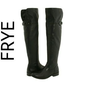 Frye Shoes - FRYE Shirley Tall Leather Over Knee Cuff Boots