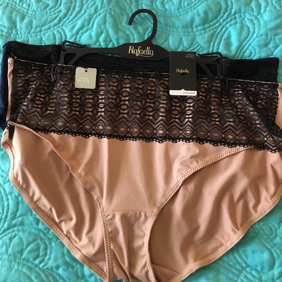 NWT Rafaella 2 pack lace detail panties 2X 2a4e7350f