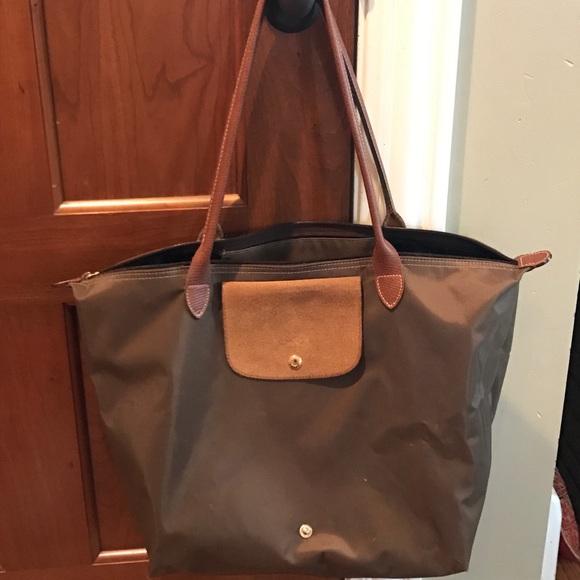 c7738c14b1a Longchamp Handbags - Longchamp  Large Le Pliage  Tote - Khaki