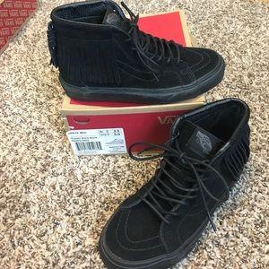 Vans Other - NIB😳SALE! Vans Sk8 Hi Top Moccasin Suede Leather