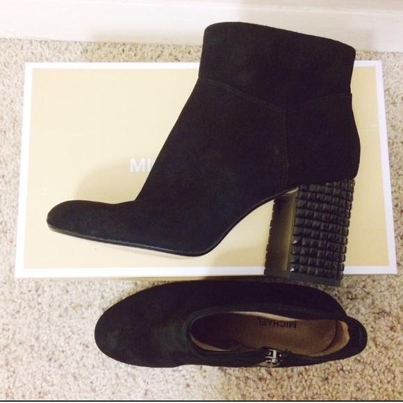 86e4da3985dba Michael Kors Arabella Embellished Block Heel Boots NWT