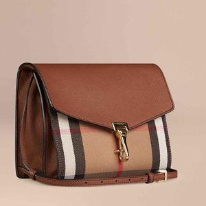 Burberry Handbags - Small Leather and House Check Crossbody Bag