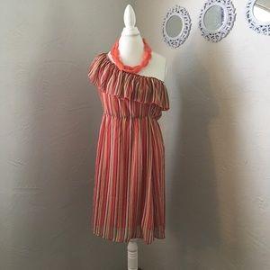 Bisou Bisou Dresses & Skirts - Bisou Bisou one shoulder stripe dress