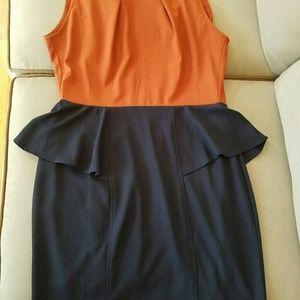 Tinley Road Dresses & Skirts - Orange and Blue Peplum dress