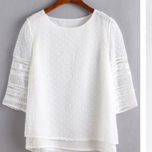 Tops - White Polka Dot Shirt