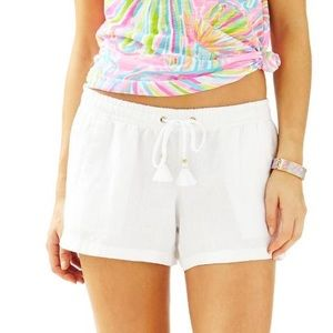 NWT lilly pulitzer beach short white linen