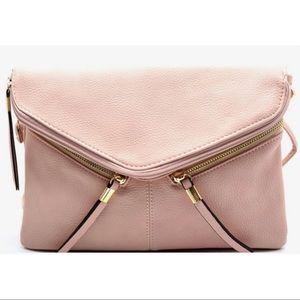 GlamVault Handbags - Blush Rebecca Detachable Crossbody & Wristlet Bag