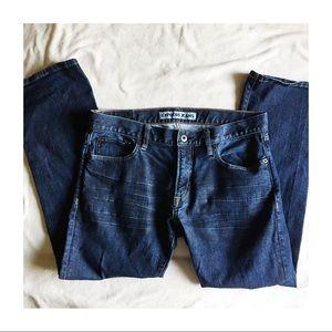 Express Denim - Express Slim Fit Straight Leg Jeans