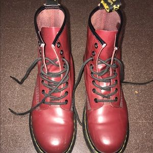 Dr. Martens Shoes - Cherry Red matte Dr. Martens