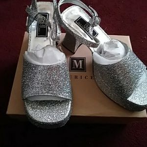 Maurices Shoes - NWT silver glitter size 9 platforms