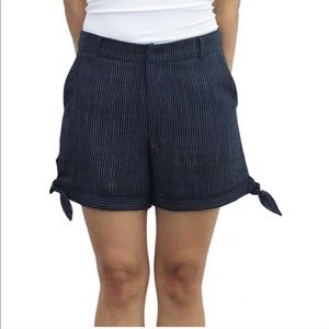 Relished Pants - Side Bow Striped Shorts Multiple Sizes