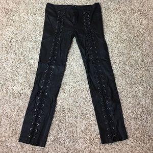Fashion Nova Pants - Fashion Nova Lace Up Super Stretchy Leggings