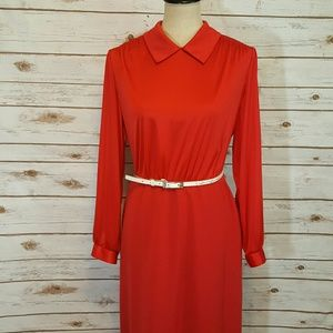 {vintage} Red secretary dress