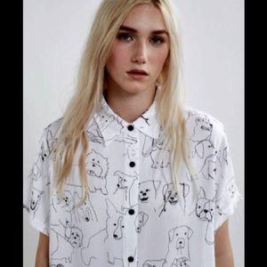 Lazy Oaf Tops - Lazy Oaf Dog Sketch Shirt