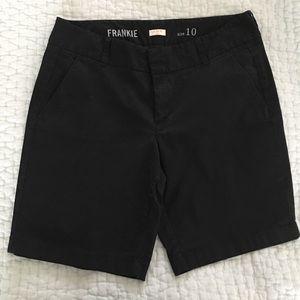 J crew factory Frankie shorts, black, size 10.