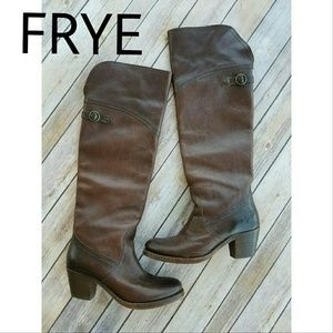 Frye Shoes - FRYE Tall Jane Cuffable Over Knee Boots Brown