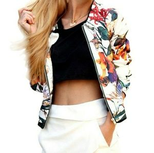 Jackets & Blazers - Floral Abstract Jacket