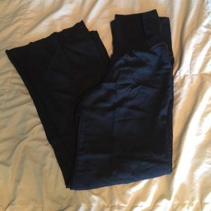 Black wide leg maternity pants from Old Navy