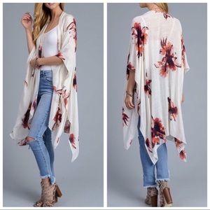 SoChic Sweaters - 2X HOST PICK❤Garden Party Flower Kimono