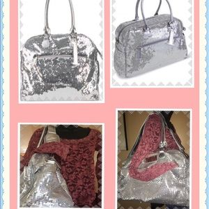 Trumpette Handbags - Trumpette silver sequined large schlepp diaper bag