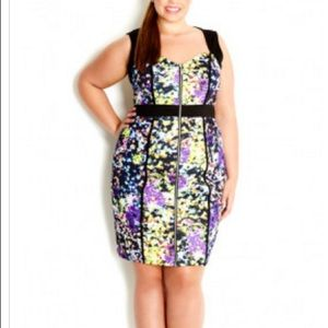 City Chic Dresses & Skirts - City Chic Zip Mirror Dress plus size 24