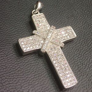 Other - White Gold Layer on solid .925 unisex cross charm