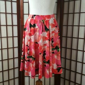 Grace Elements Dresses & Skirts - Skirt Camellia Rose Combo Stretch Skirt Floral