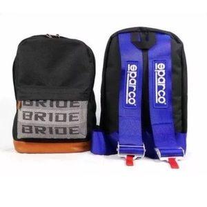 Other - JDM Bride Sparco Racing Backpack Blue