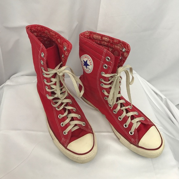 ab97de34c329 Converse Shoes - Converse sz9.5 red mid-calf high top sneakers