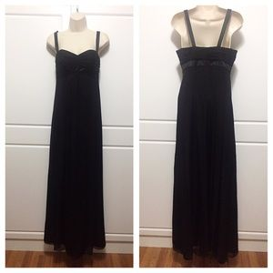Laundry by Design Dresses & Skirts - Laundry by Design Black Silk Empire Waist Gown