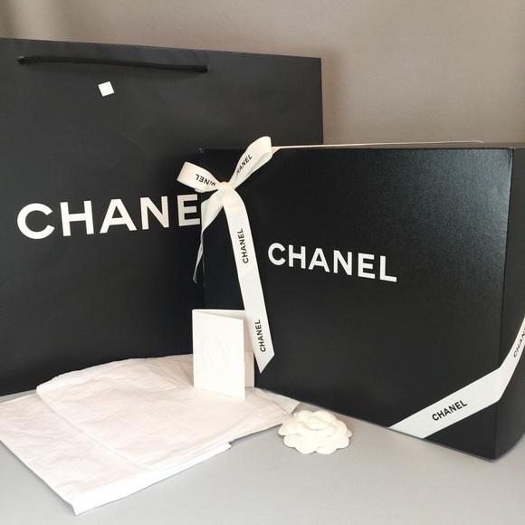 de794f63b571e1 Chanel Other | Empty Purse Box Tissue Paper Shopping Bag | Poshmark