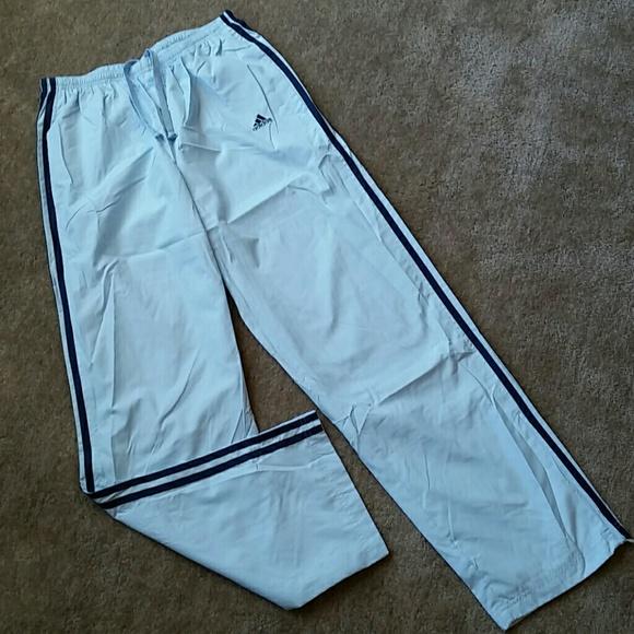New Adidas Womens Light Blue Wind Pants