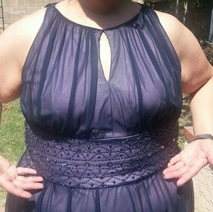 Beaded waist cocktail dress