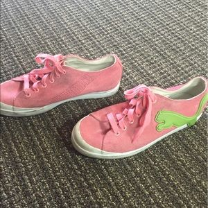 Puma Shoes - Puma Pink & Green Sneakers
