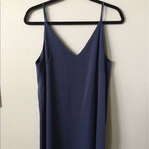 Aqua Dresses & Skirts - Aqua slip dress navy