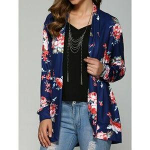 LAST ONE! Navy Blue Floral Kimono