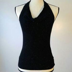 Dressy Halter top sparkle Black