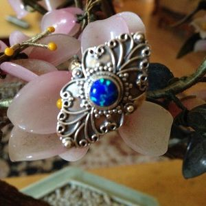 Vintage 925 fire opal ring