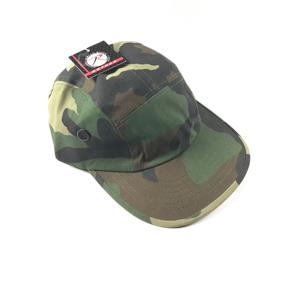 3e1ac4070351c New Rothco Camouflage 5 Panel Leather Strap Hat
