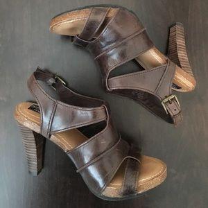 Adam Tucker Shoes - Adam Tucker...Me Too Gabbi Brown Leather Heels 7