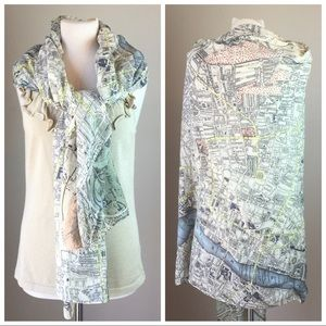 lisa angel Accessories - Lisa Angel long London Map Scarf