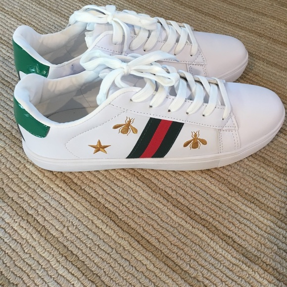 Gucci style Stan smith white shoes
