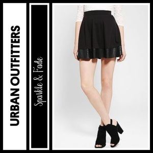 Urban Outfitters Dresses & Skirts - Urban Outfitters Faux Leather trim circle skirt