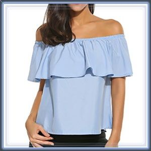  Ruffle Off The Shoulder Top