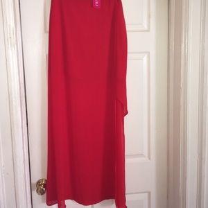 a'gaci Dresses & Skirts - Red Side Slit Maxi Skirt