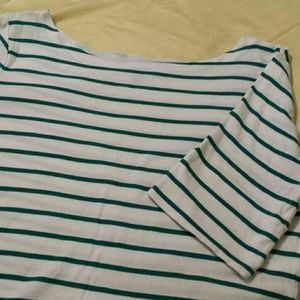 Boat necked top